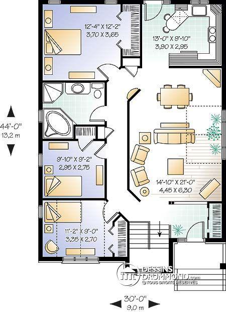 Détail du plan de Maison unifamiliale W3313 Plans de maison