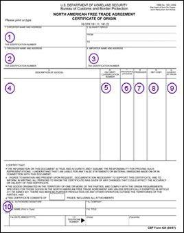 certificate of origin nafta - Google Search | NAFTA certificate of ...