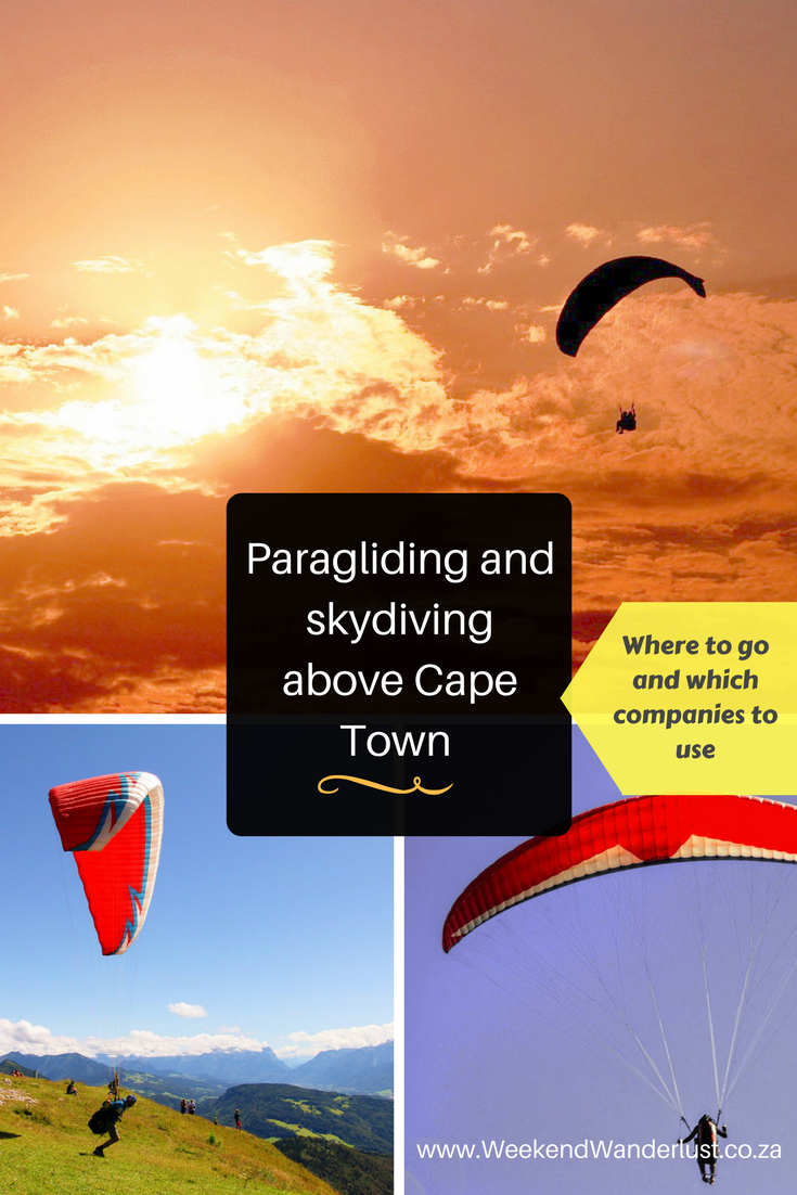 11 Great Skydiving And Paragliding Tours In Cape Town If You Are Not Too Terrified Of Heights Then Why Great Places To Travel Paragliding South Africa Travel