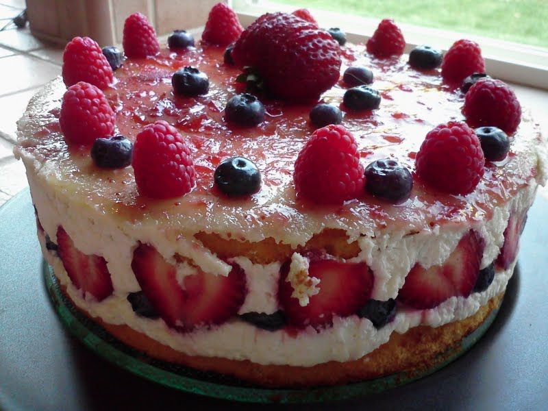 Fruit basket cake fruit desserts easy cake fillings