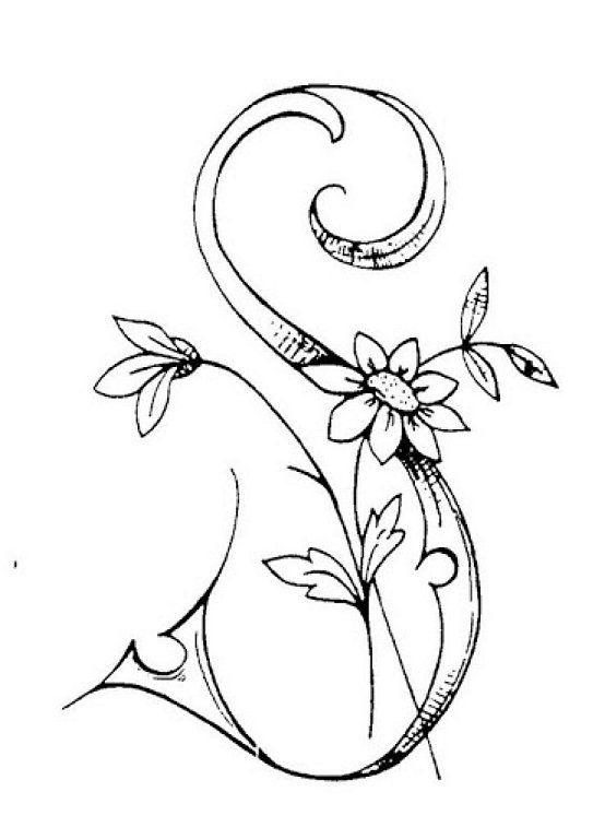 Flores Y Letras Para Decoupage Gris Pinterest Bordar Letras