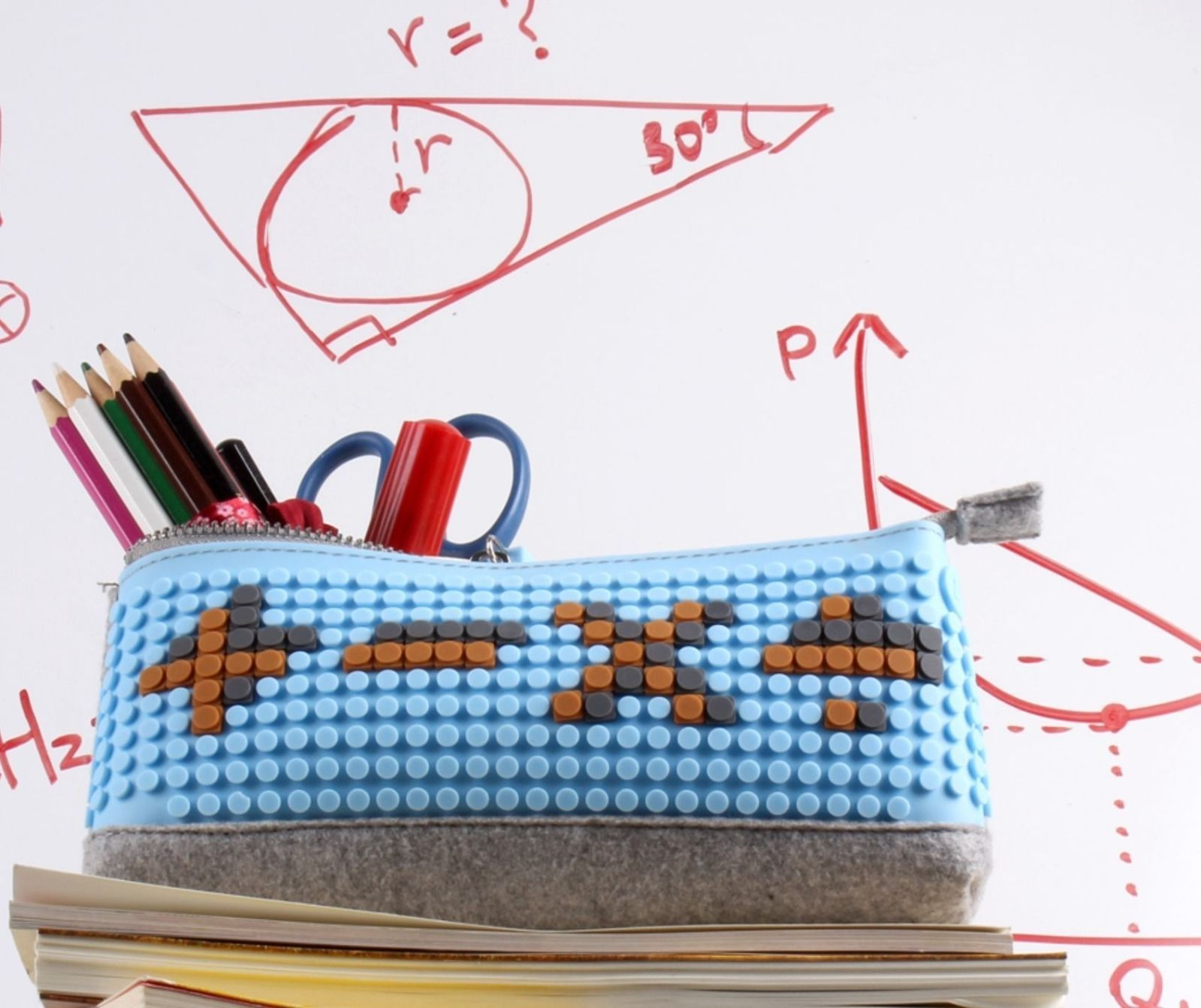 pixel craze design your own pencil case a colourful and funky