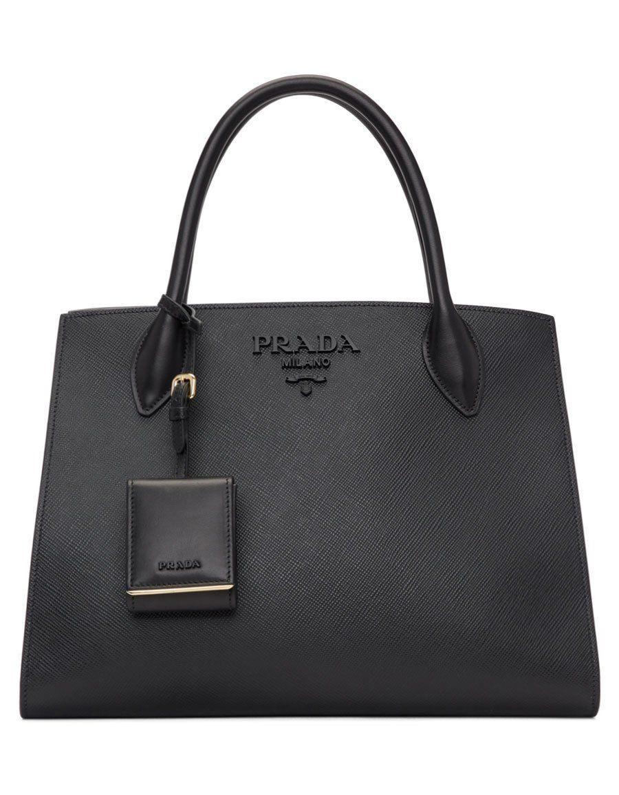 e60a2135a8f3 b>PRADA</b><br> Black Large Logo Paradigm Tote in 2019   Women Bags ...