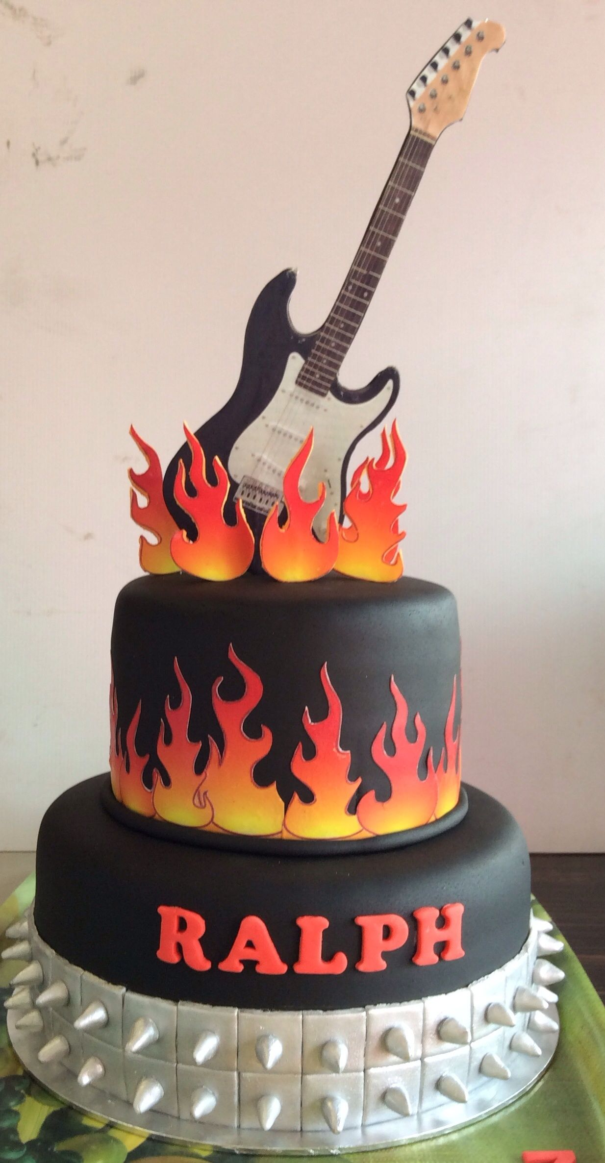 Rock N Roll Birthday Cake Rock Cake Music Cakes Guitar
