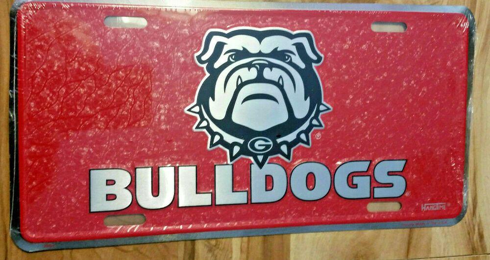 Brand new bulldogs mosaic license plate tag