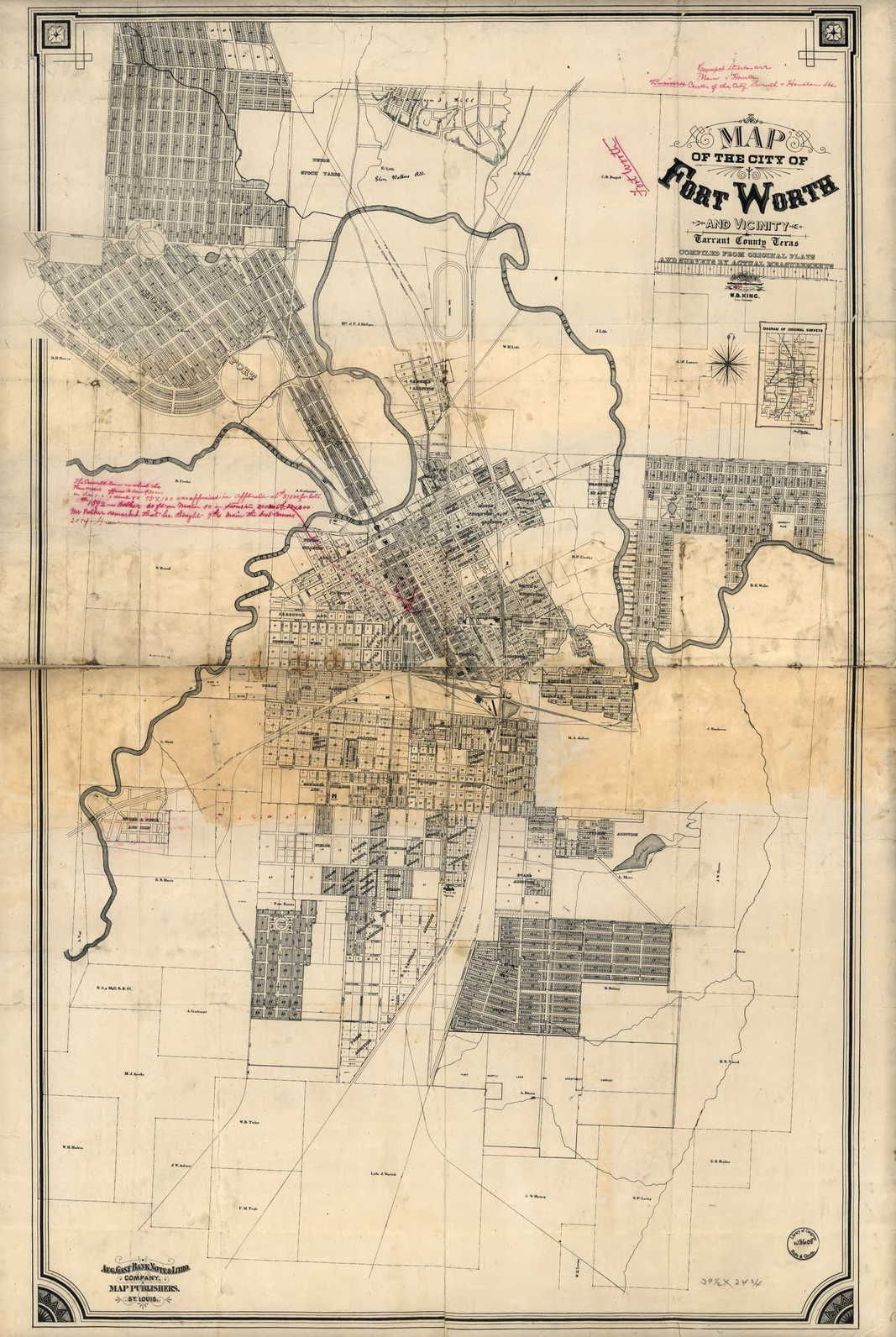 Map Of Texas 1880.Fort Worth Texas 1880 Ancestry Com Maps Fort Worth Texas