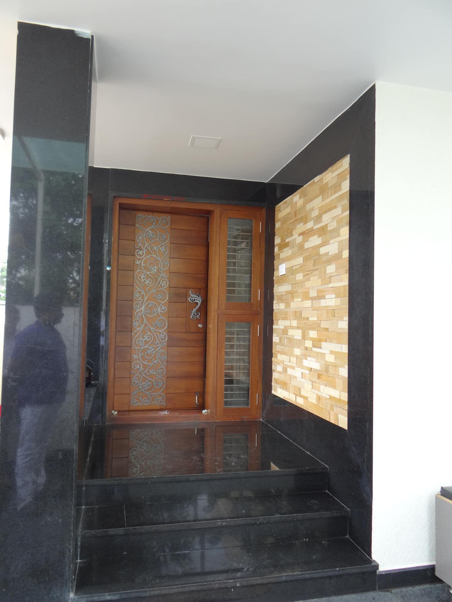 Entrance Lobby Modern Houses By Hasta Architects Modern Homify Main Door Design Entrance Door Design Home Door Design