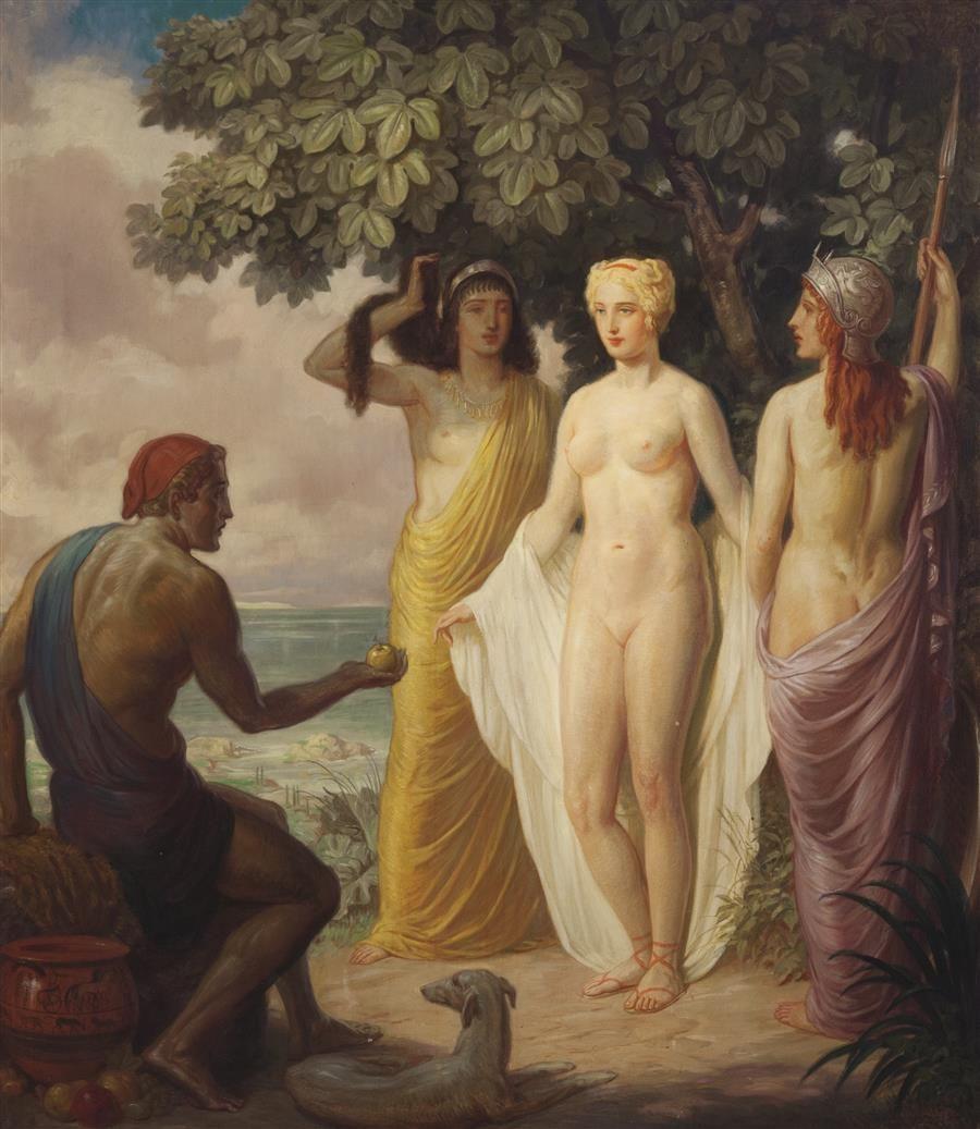 Louis Grell  Judgement of Paris Trojan War Odyssey and Aeneid