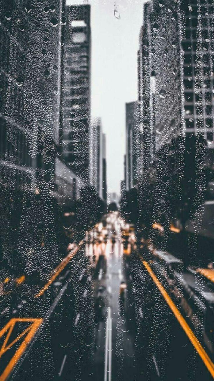 Rainy Days In The City Wallpaper Lockscreen City Wallpaper Rain Wallpapers Iphone Wallpaper Tumblr Aesthetic