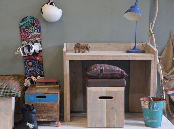Tekening Slaapkamer ~ Bureau school kinderkamer slaapkamer kind jongen meisje interieur
