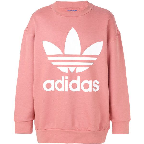 Pulido Escrutinio Juventud  Adidas Originals logo sweatshirt ($110) ❤ liked on Polyvore ...