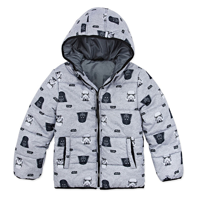 54a2e4b7 Disney Outerwear Star Wars Heavyweight Logo Puffer Jacket - Boys-Big Kid