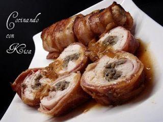 Filetes de pollo rellenos de tapenade