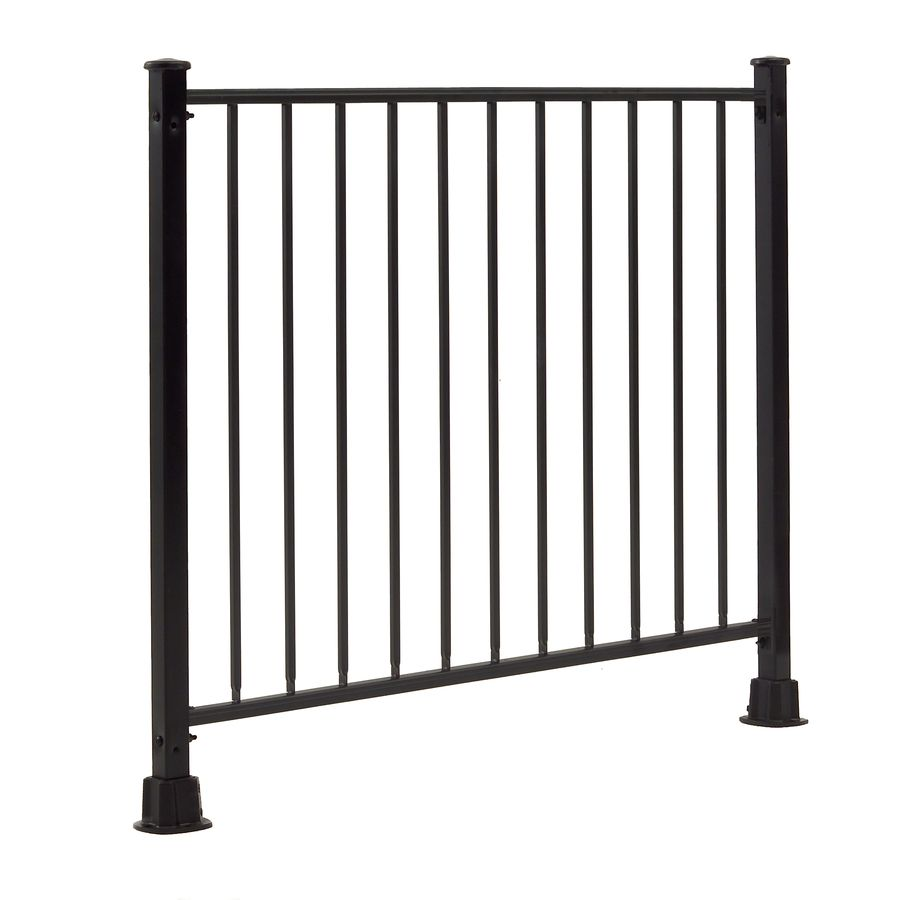 Best Shop Gilpin Hampton 48 In X 32 In Black Steel Porch Railing At Lowes Com Aluminum Porch 400 x 300