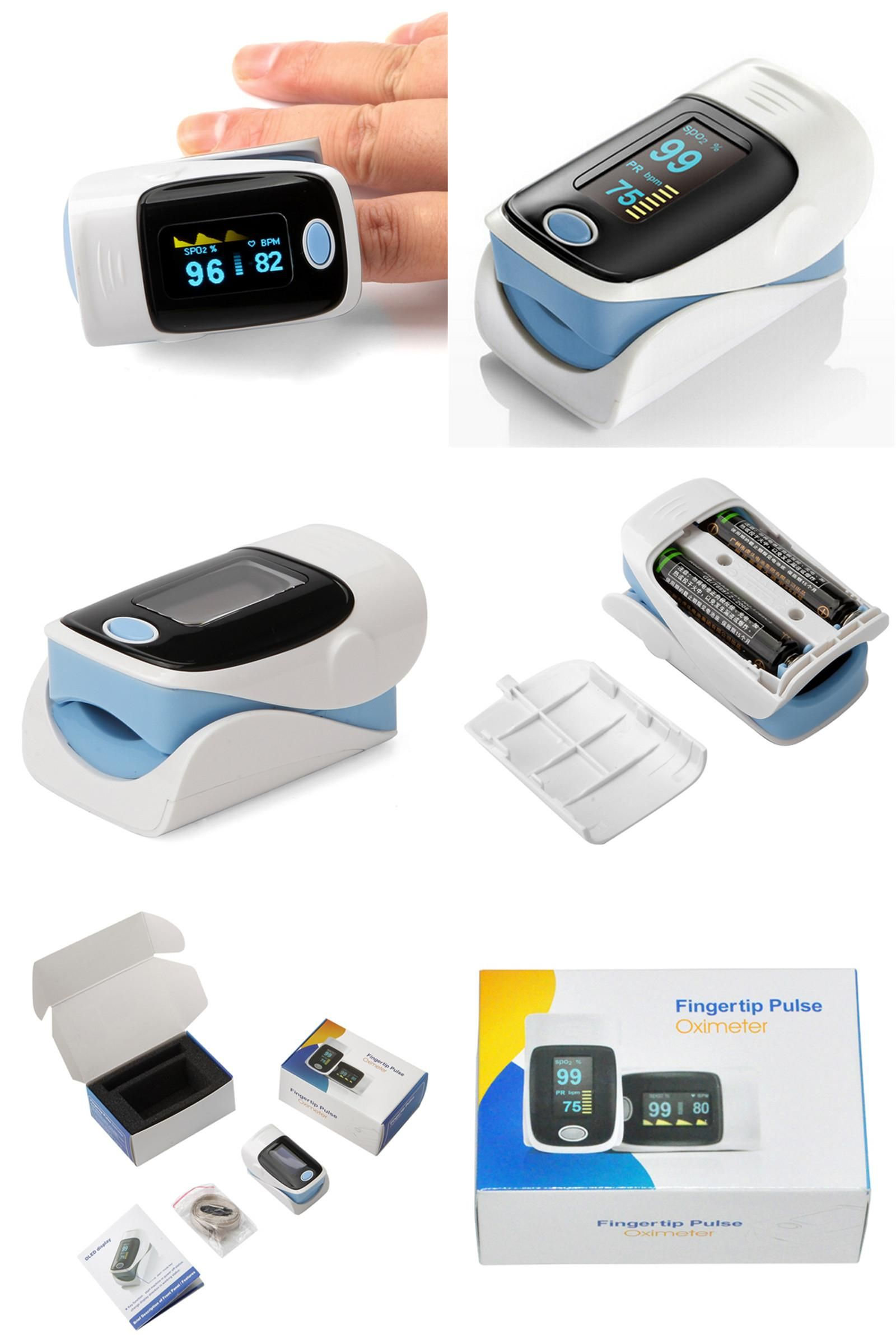 Visit to Buy] Digital Finger Oximeter Fingertip Pulse