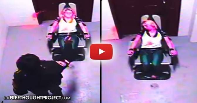 Horrifying+Video+Shows+Cop+Torturing+Restrained+Woman+With+Mace+Until+She+Falls+Unconscious