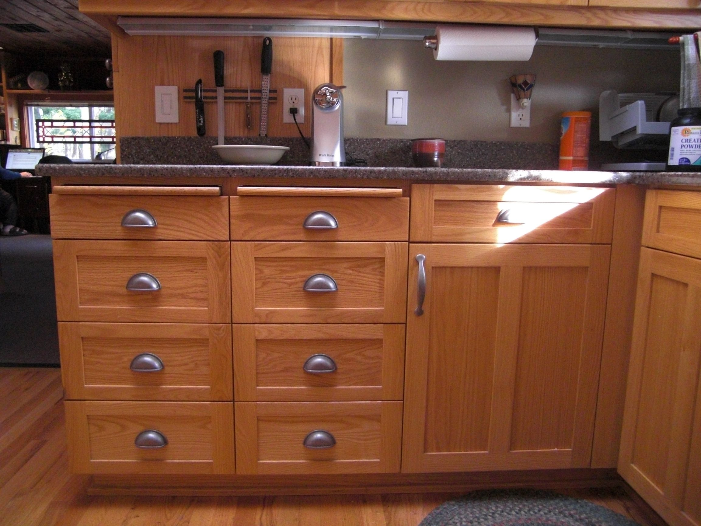 Hickory Shaker Style Kitchen Cabinets Round Sink Love The Cup Pulls Ideas For Elliott Pinterest