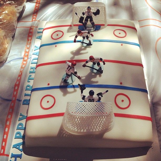 Cake Idea W Edible Figures All Things Hockey In 2019