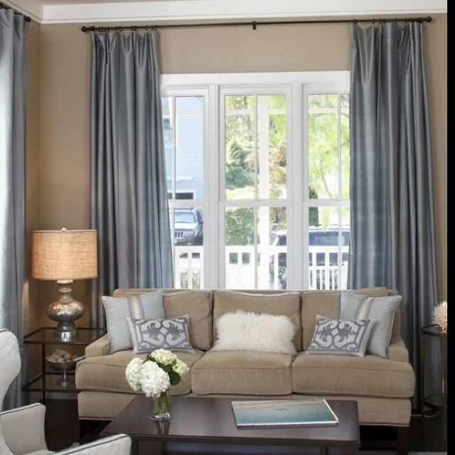 Image Result For Living Room Beige Couch Blue Chair