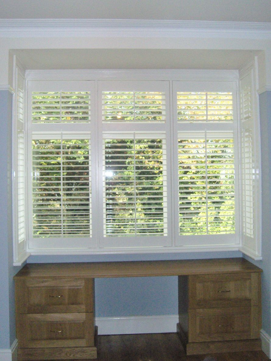 Bay window interior wooden window shutters from long island shutters wooden window shutters wooden windows