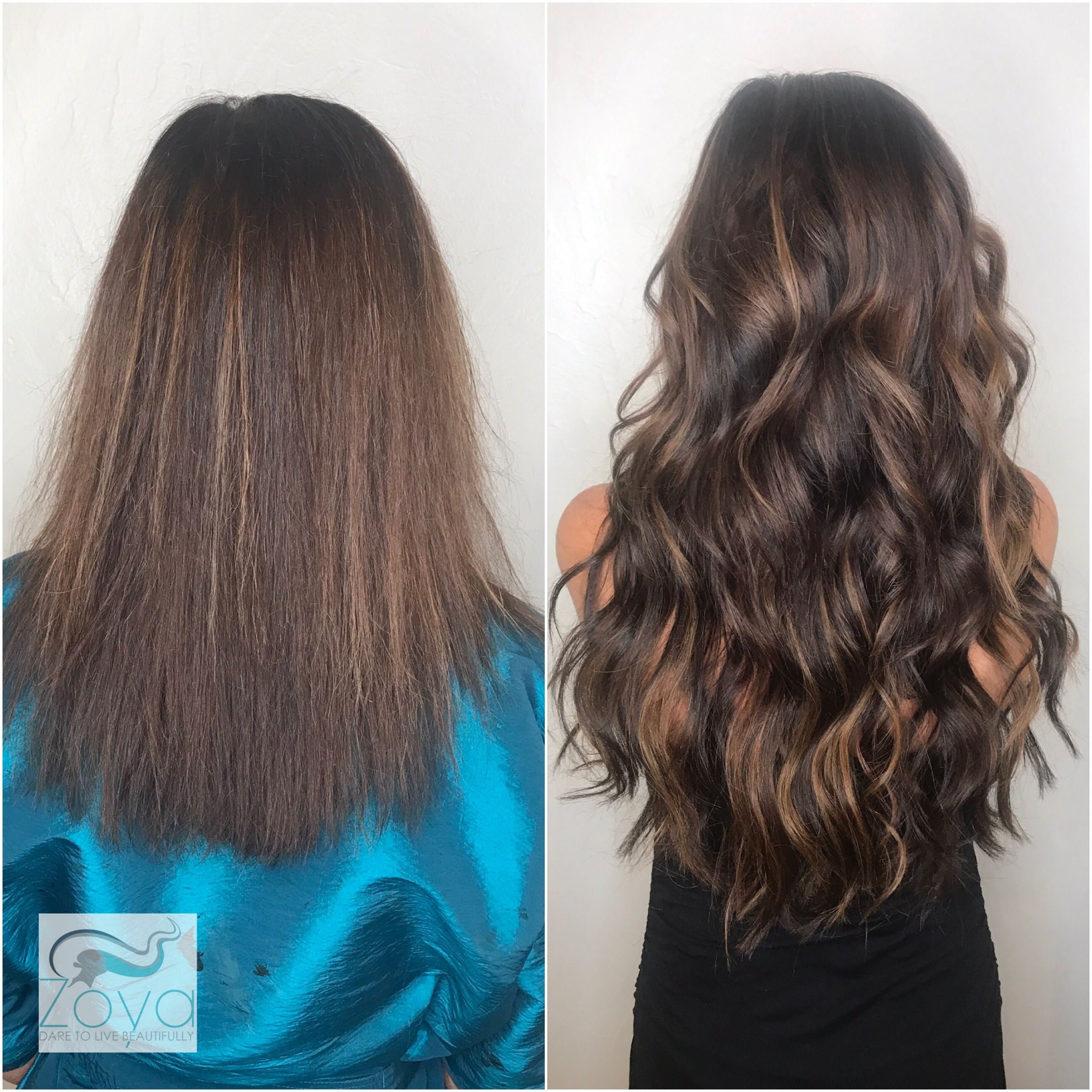 Beautiful Brunnete Balayage Using Great Lengths Extensions Custom