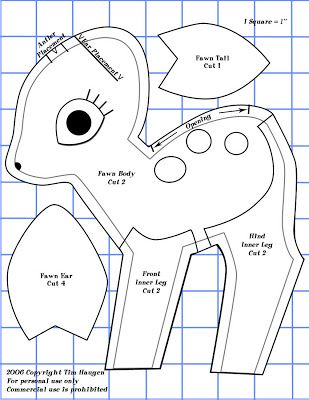 Free Fawn Plushie Sewing Pattern / Template crafty things