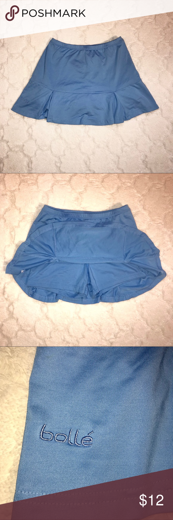 Light Blue Tennis Skort (Skirt & Shorts) Light blue Tennis skirt with shorts underneath.  -Cotton & Spandex -Never Worn  -Size XS bolle Skirts #lightblueshorts