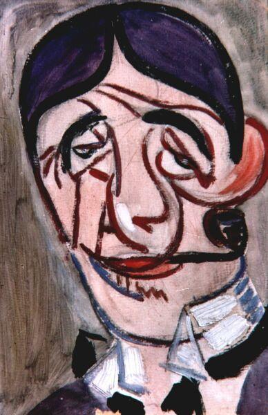 Uomo con pipa - Luigi De Giudici