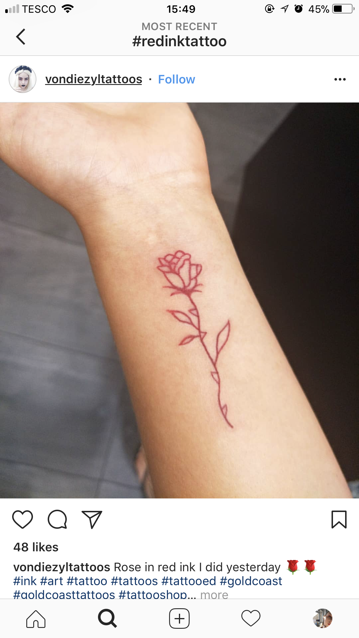 Pin By Tammy On Tattoos Red Ink Tattoos Rose Outline Tattoo Mini Tattoos