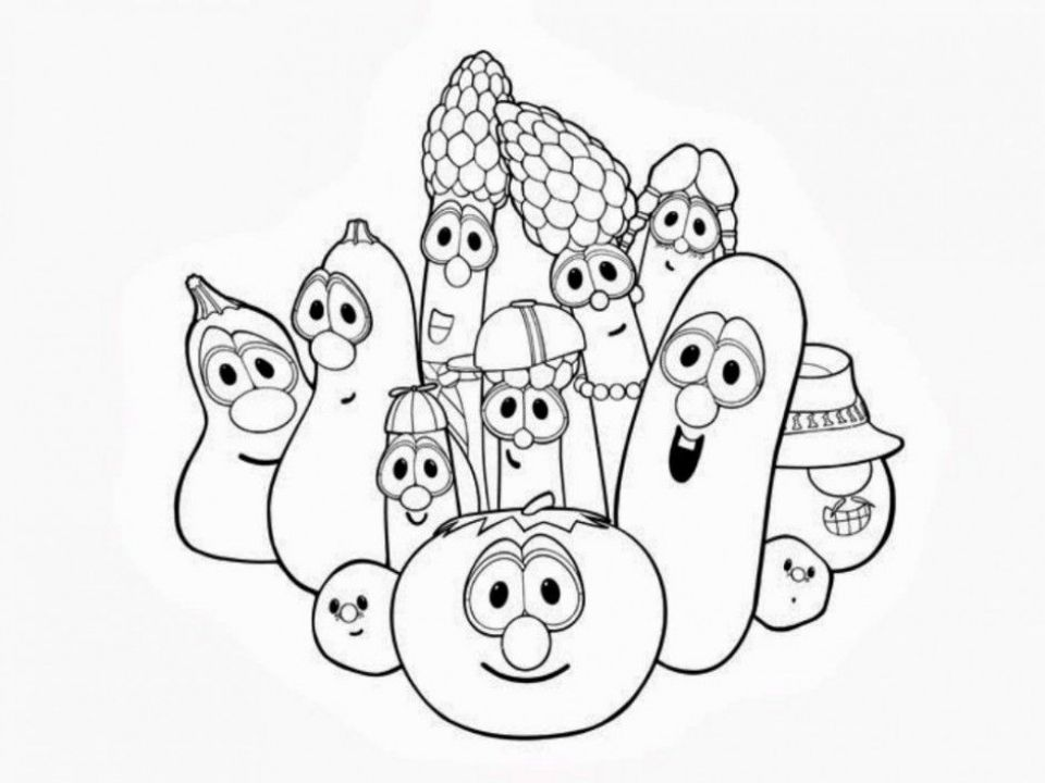 Get This Veggie Tales Coloring Pages Free Printable u043e