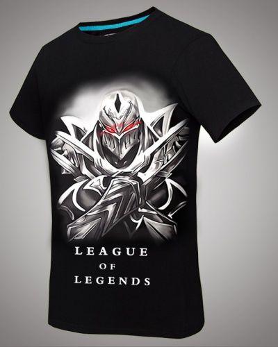 9b26a127f8 League of Legends zed dos homens negros t camisa de manga curta Diablo  herói-