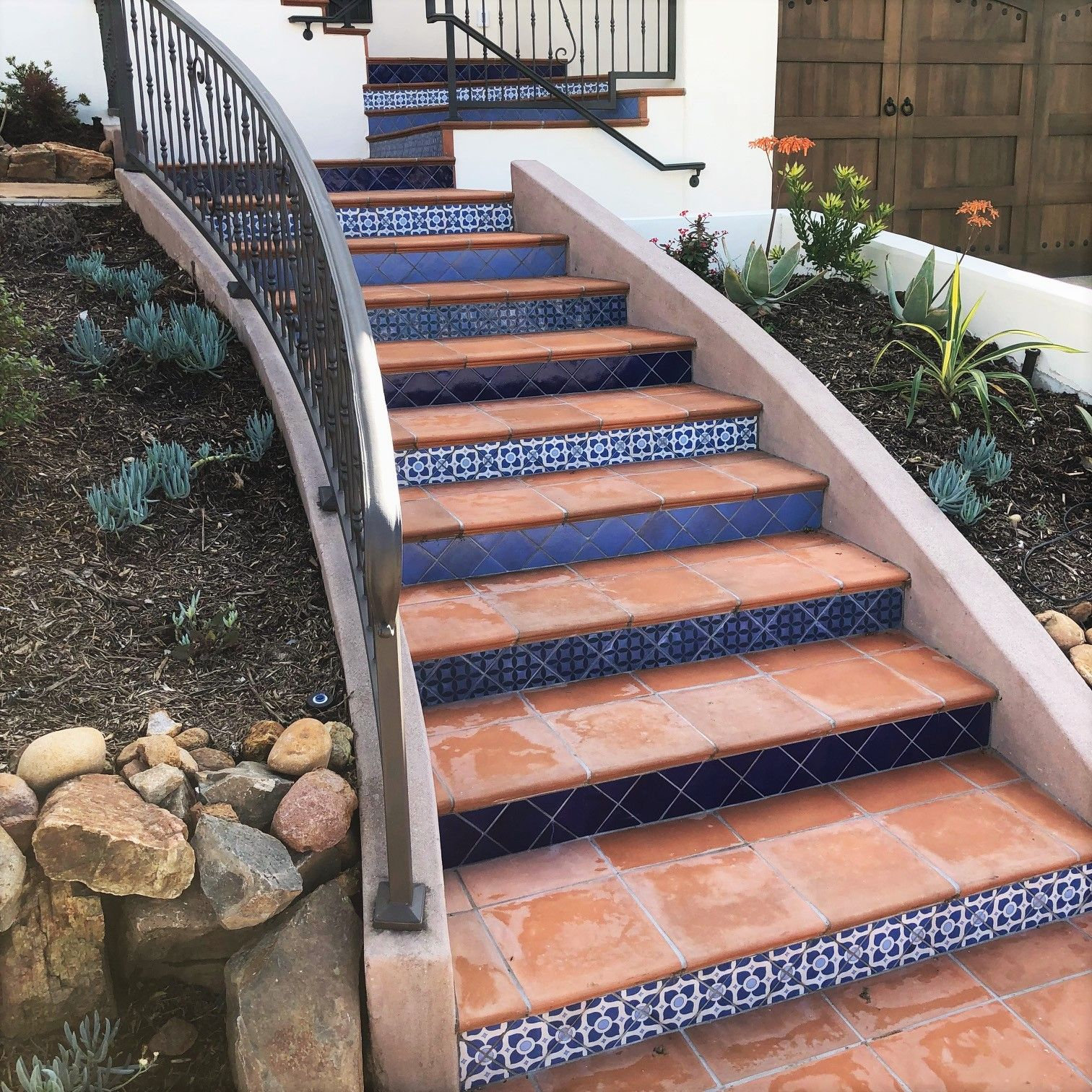 Best A Beautiful Set Of Stair Risers Using A Variety Of 400 x 300