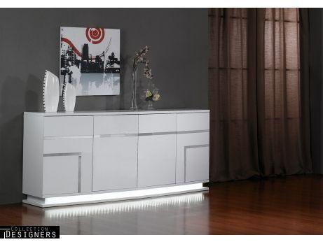 Aparador LUMINESCENCE IV MDF lacado blanco LEDs 4