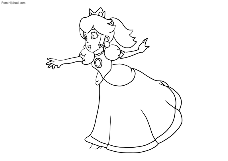 Coloring Super Mario Princess Peach Coloring Page Free Printable Colori With Beautiful Super Mario Coloring Pages Mario Coloring Pages Princess Coloring Pages