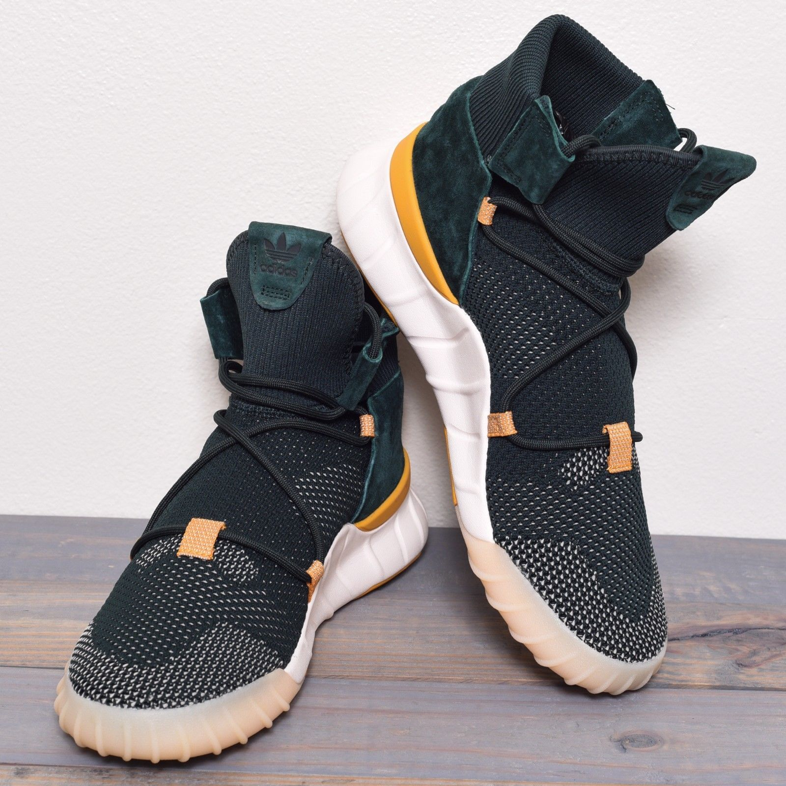 best service 9092d b20a3 ADIDAS Originals TUBULAR X 2.0 PRIME KNIT SHOES NEW Green Night Yellow PK  CQ1376