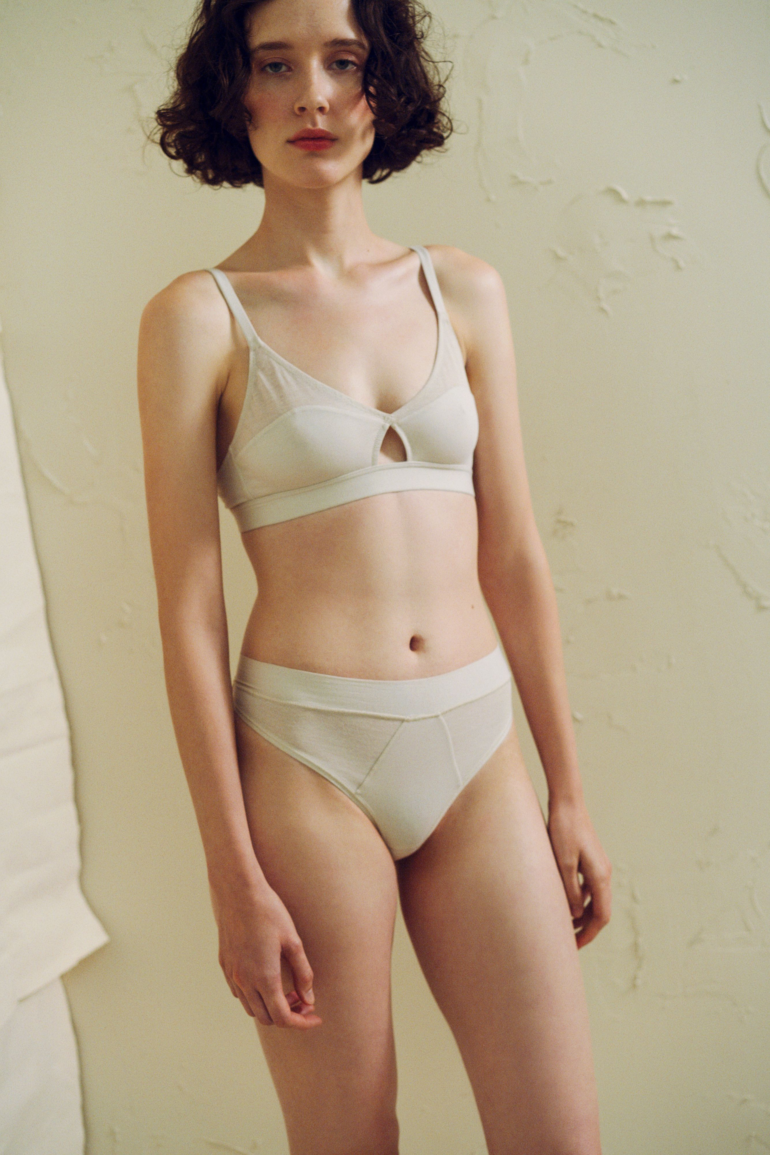 0272bcb8b91643 Fresco Cut-Out Bralette in Plaster by The Great Eros