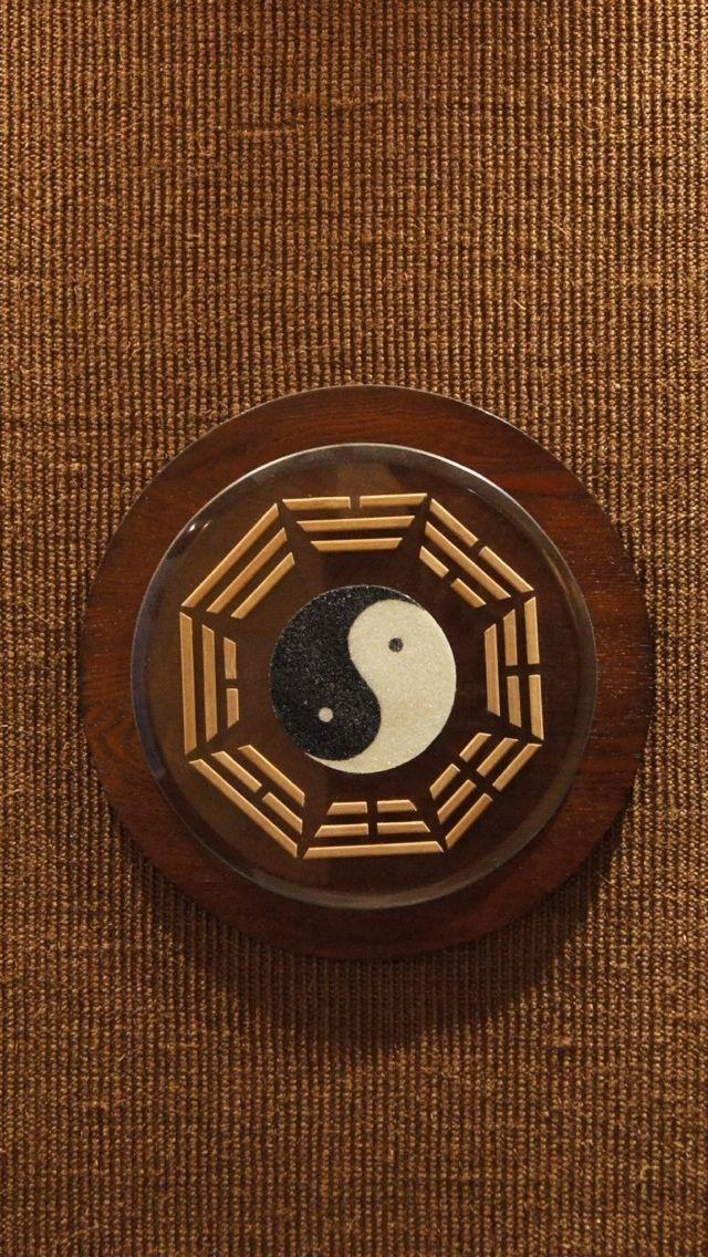 Ying Yang Texture Wallpaper iPhone 5 640*1136 Papeis de