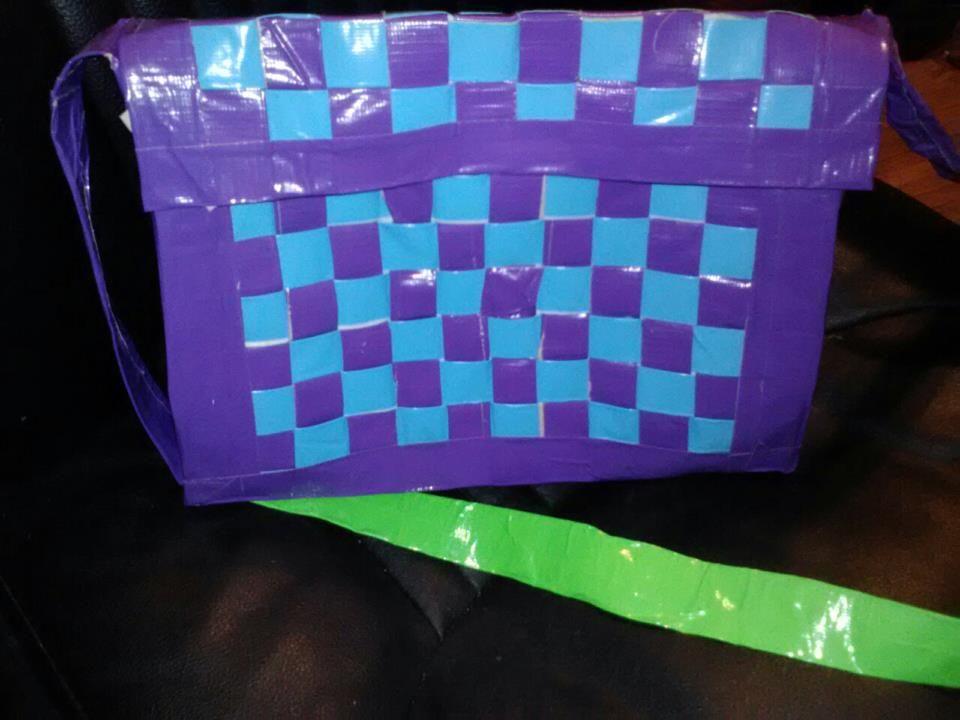 Woven Duct Tape Purse Duct tape purses, Duct tape, Tape