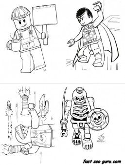 Print out lego super heroes coloring page for boy ...
