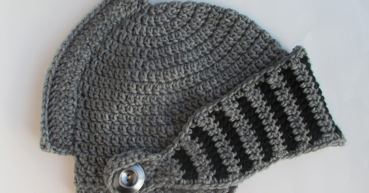 Hey Everyone Here Is The Pattern For A Crochet Knight Helmet The