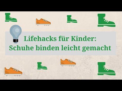 Lifehacks f r kinder schuhe binden leicht gemacht 3 verschiedene methoden youtube lernen - Schleife binden youtube ...