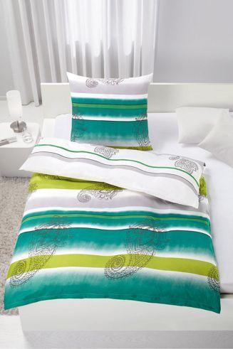 bettw sche aus 100 polyester in der farbe gr n b l ca 135 200cm und 80 80cm wie man sich. Black Bedroom Furniture Sets. Home Design Ideas