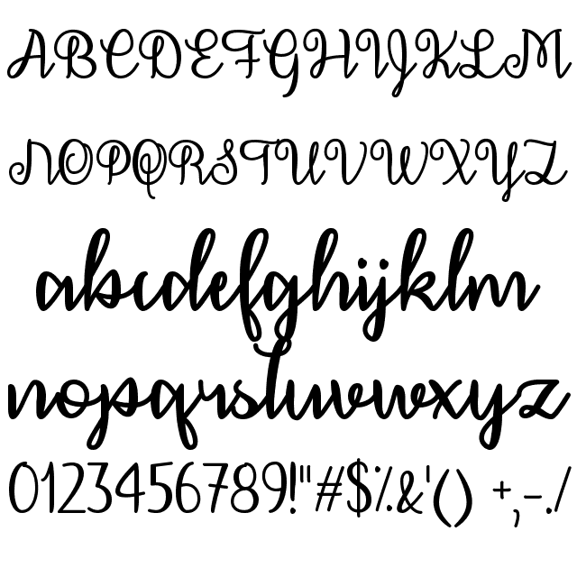 DECEMBER CALLIGRAPHY FONT | Fonts | December calligraphy