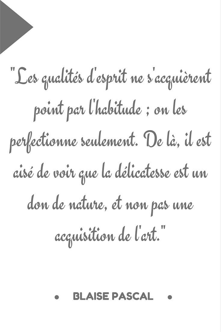 Citation Blaise Pascal Citation Jolis Mots