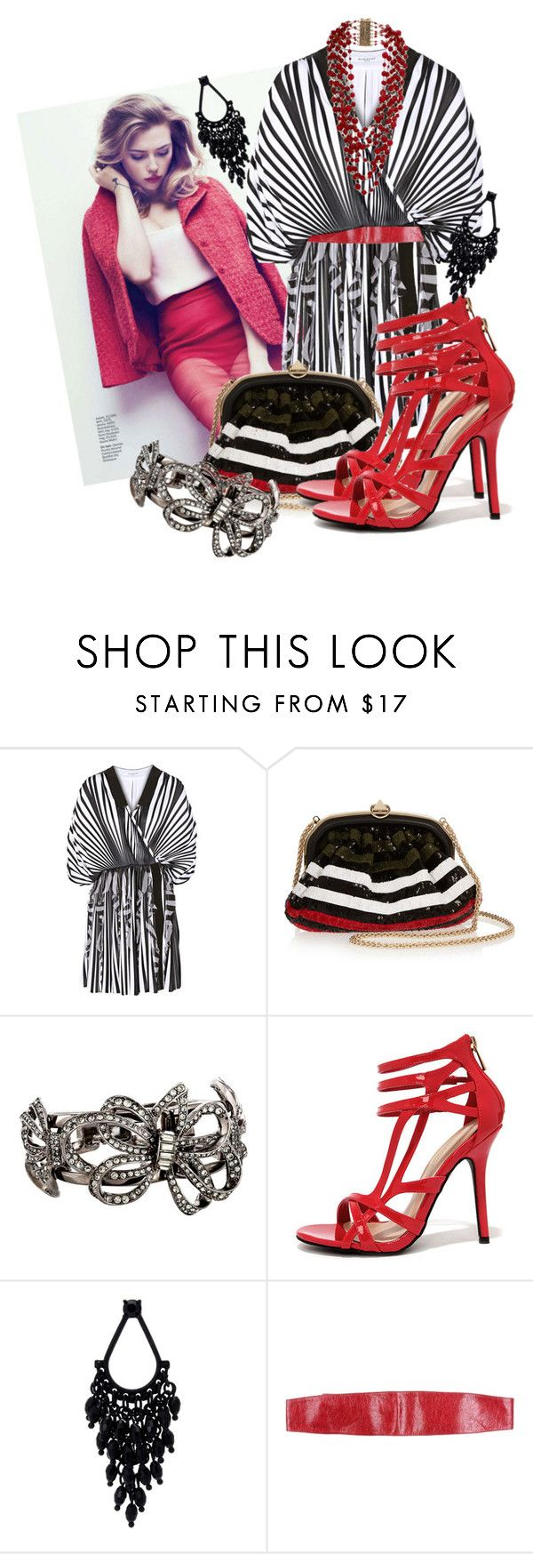 """Scarlett"" by inesi ❤ liked on Polyvore featuring Givenchy, Sonia Rykiel, Oscar de la Renta, Wild Diva, Oasis, Tru Trussardi and Rosantica"