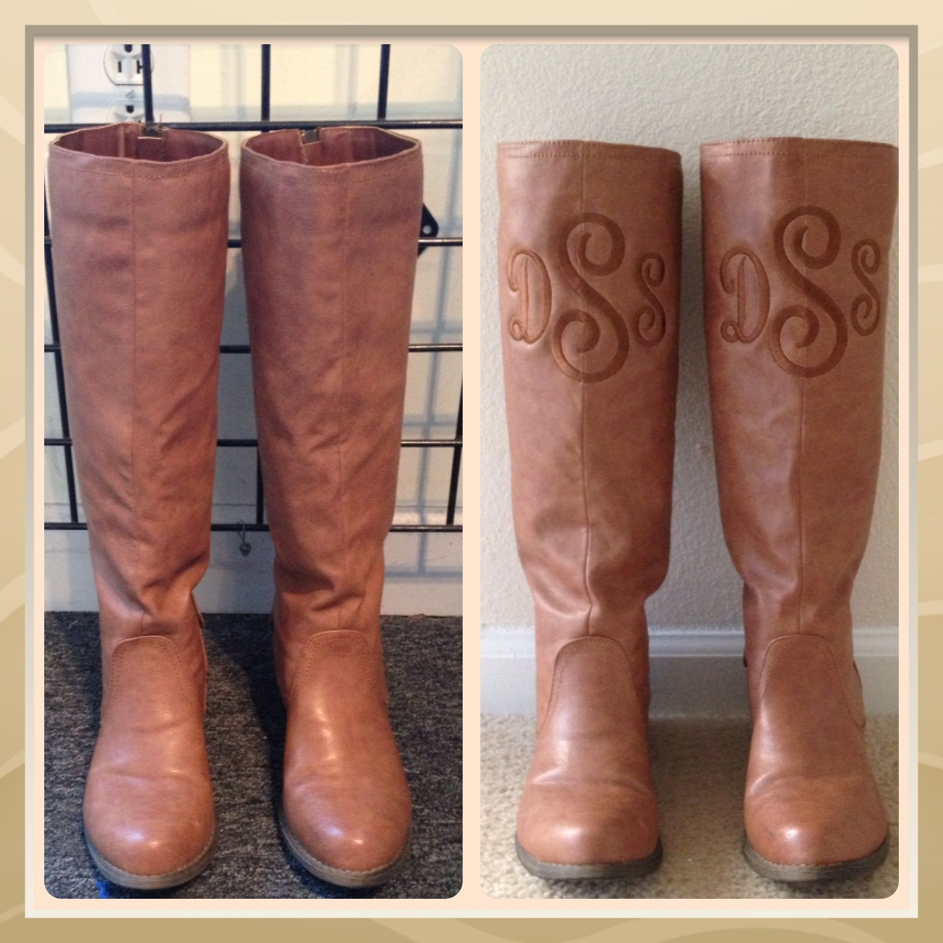 Monogrammed Boots Got These Last Spring At Belk For 1700 Went