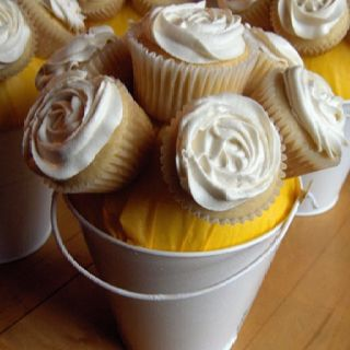 Bucket of cupcakes