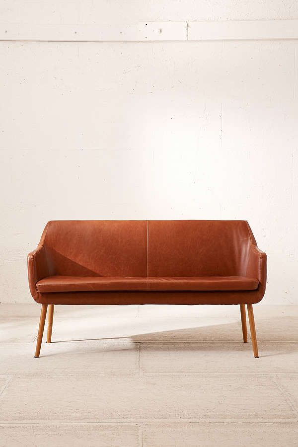 Charmant Slide View: 2: Nora Faux Leather Dining Bench