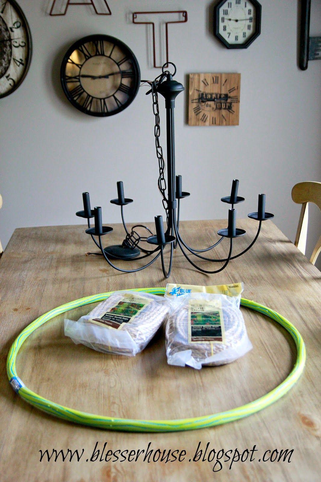 DIY Restoration Hardware Knock-Off Rope Chandelier - Blessu0027er House & DIY Restoration Hardware Knock-Off Rope Chandelier | Pinterest ...