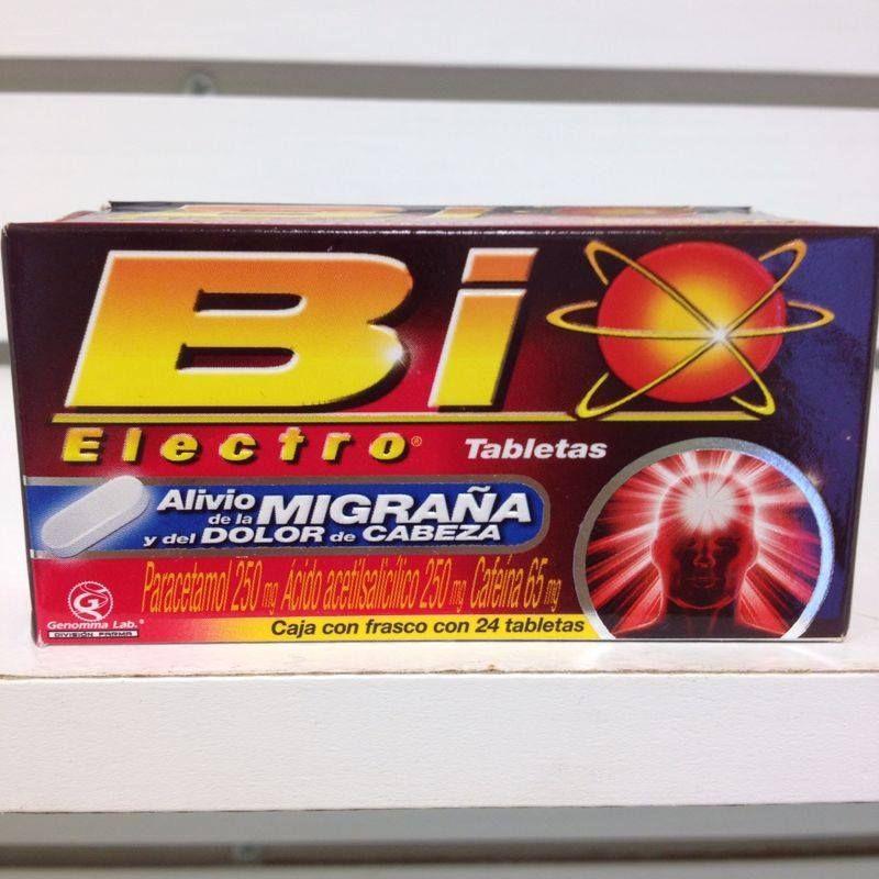 Tabletas Bio Electro, alivio de la migra;a y el dolor de